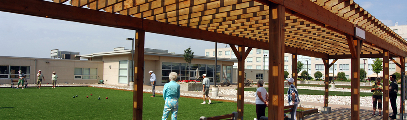 Terraces gazebo/lawnbowling